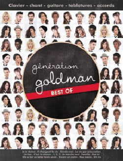 Jean-Jacques Goldman - Goldman Generation - Best of - Partition - di-arezzo.co.uk
