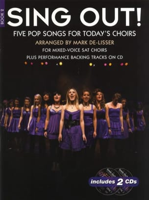 Sing Out! 5 Pop Songs For Today's Choirs - Book 2 avec 2 CD - Partition - di-arezzo.fr