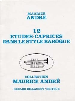 12 Etudes Caprices dans le Style Baroque Maurice André laflutedepan