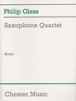 Saxophone Quartet - Conducteur GLASS Partition laflutedepan