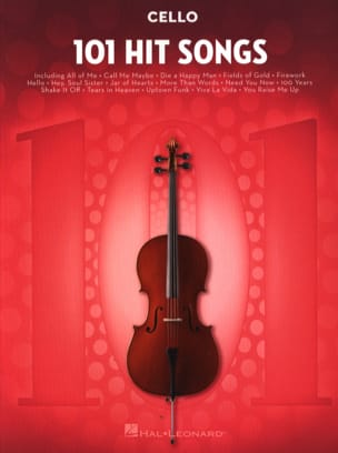 101 Hit Songs for Cello Partition Violoncelle - laflutedepan