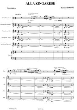 Alla Zingarese Samuel Ternoy Partition Sextuors - laflutedepan