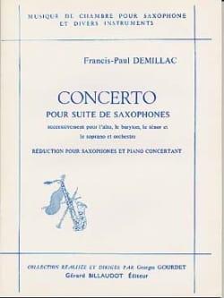 Concerto Pour Suite de Saxophones - laflutedepan.com