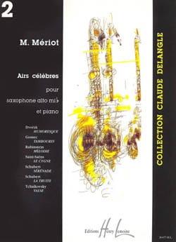 Airs Célèbres Volume 2 Partition Saxophone - laflutedepan