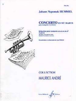 Concerto en Mib Majeur HUMMEL Partition Trompette - laflutedepan