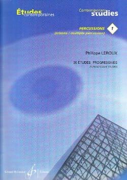 20 Etudes progressives Philippe Leroux Partition laflutedepan