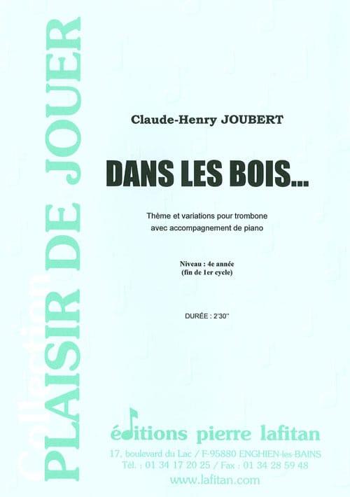 Dans les Bois - Claude-Henry Joubert - Partition - laflutedepan.com