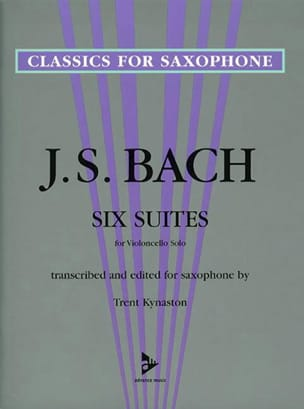 6 Suites for Violoncello Solo BACH Partition Saxophone - laflutedepan