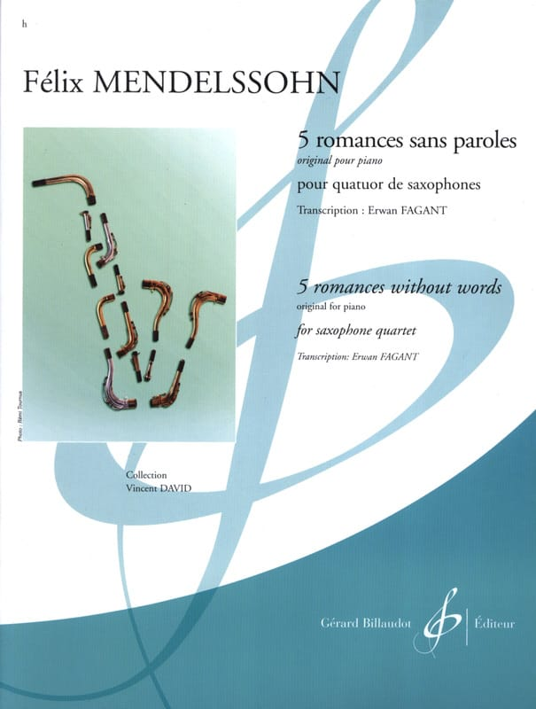 5 Romances Sans Paroles - MENDELSSOHN - Partition - laflutedepan.com