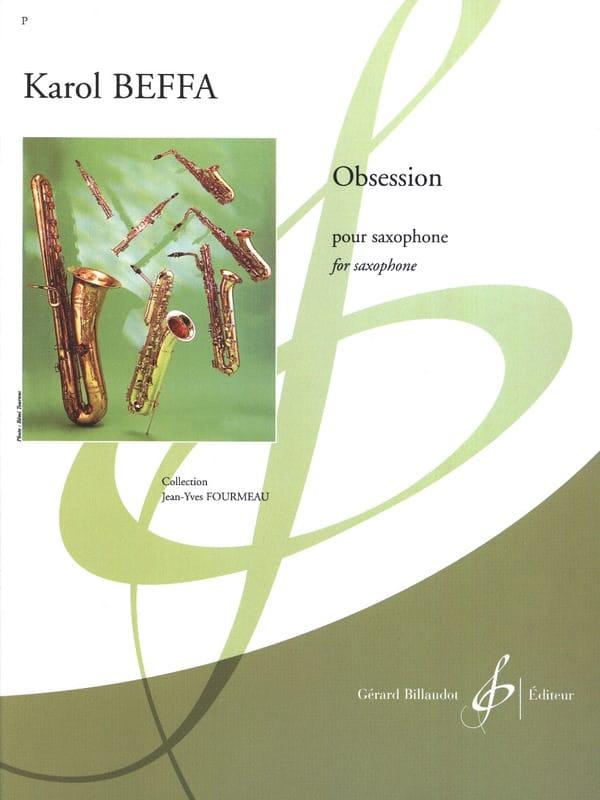 Obsession - Karol Beffa - Partition - Saxophone - laflutedepan.com