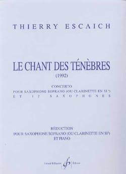 Le chant des ténèbres Thierry Escaich Partition laflutedepan