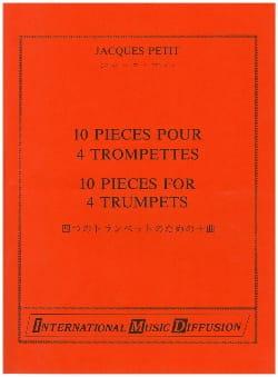 10 Pièces Pour 4 Trompettes Jacques Petit Partition laflutedepan