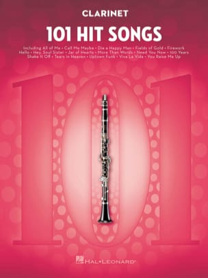 101 Hit Songs for Clarinet Partition Clarinette - laflutedepan