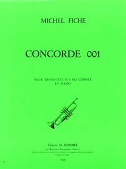 Concorde 001 Michel Fiche Partition Trompette - laflutedepan