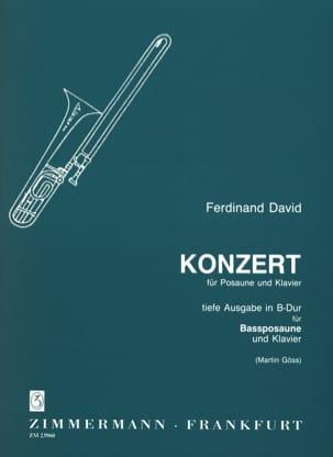 Konzert For Bass Trombone Ferdinand David Partition laflutedepan