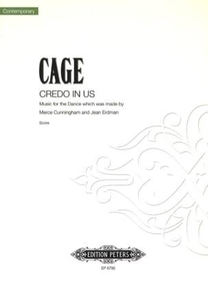 Credo In Us CAGE Partition Ensemble de percussions - laflutedepan