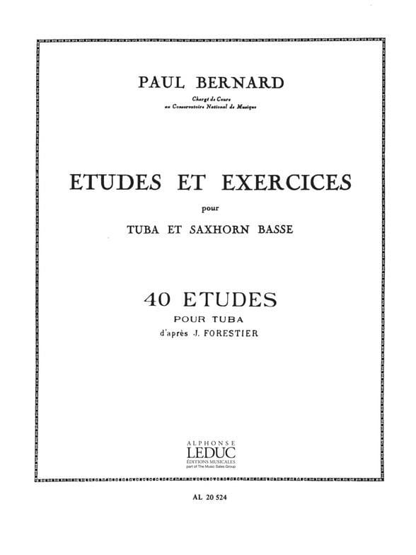 Etudes et Exercices - 40 Etudes - Bernard - laflutedepan.com