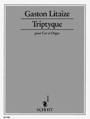 Triptyque Gaston Litaize Partition Cor - laflutedepan