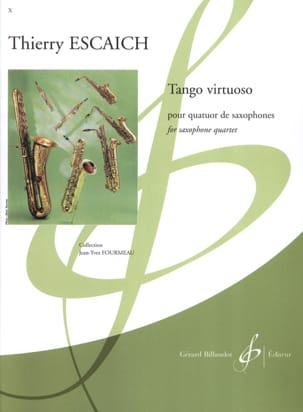 Tango virtuoso Thierry Escaich Partition Saxophone - laflutedepan