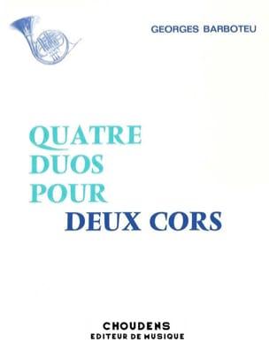 4 Duos Georges Barboteu Partition Cor - laflutedepan