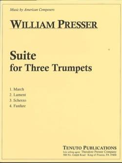 Suite for Three Trumpets William Presser Partition laflutedepan