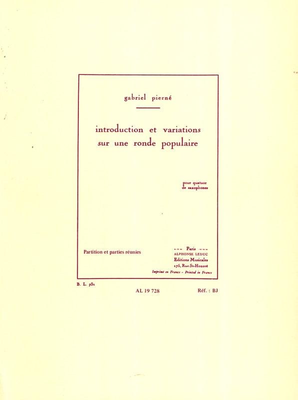 Introduction Et Variations Sur Une Ronde Populaire - laflutedepan.com