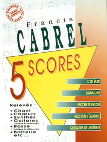 5 Scores - Françis Cabrel - Partition - laflutedepan.com