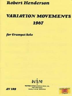 Variation Movements 1967 Robert Henderson Partition laflutedepan