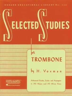 Rubank Selected Studies H. Voxman Partition Trombone - laflutedepan