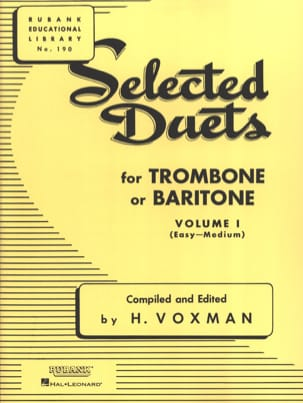Selected Duets for Trombone - Volume 1 Voxman Partition laflutedepan