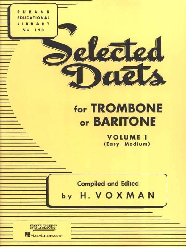 Selected Duets for Trombone - Volume 1 - Voxman - laflutedepan.com