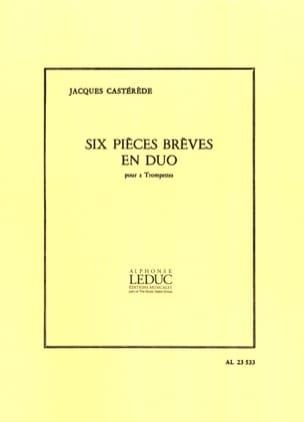 6 Pièces Brèves En Duo Jacques Castérède Partition laflutedepan