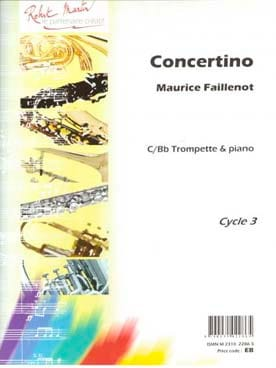 Concertino Maurice Faillenot Partition Trompette - laflutedepan