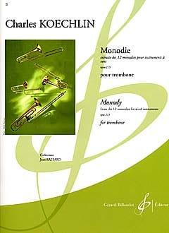 Monodie Opus 213 Charles Koechlin Partition Trombone - laflutedepan