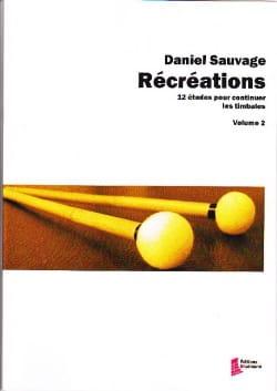 Récréations volume 2 - 12 Etudes pour continuer les timbales laflutedepan