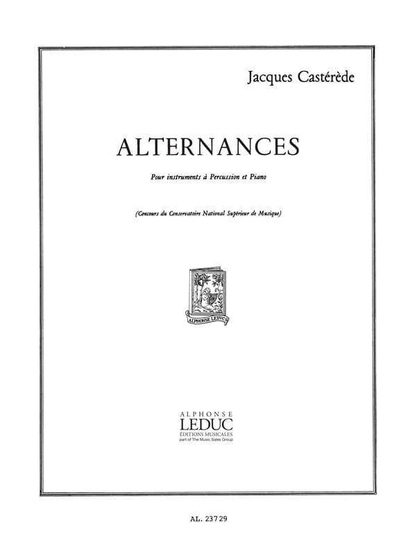 Alternances - Jacques Castérède - Partition - laflutedepan.com