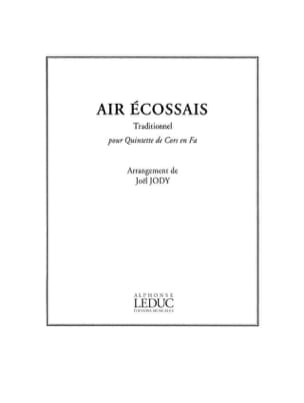 Air Ecossais Traditionnel Partition Cor - laflutedepan