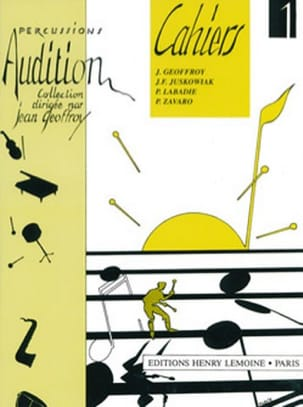 Audition Cahiers 1 - Volume 1 Jean Geoffroy Partition laflutedepan