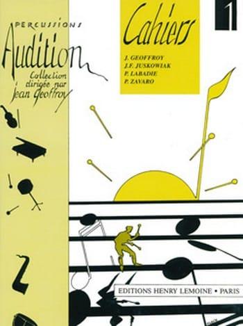 Audition Cahiers 1 - Volume 1 - Jean Geoffroy - laflutedepan.com