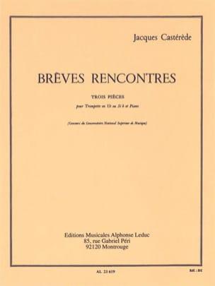 Jacques Castérède - Short Meetings - Three Pieces - Partition - di-arezzo.co.uk