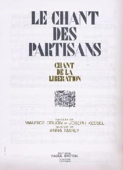 Chant Le Des Partisans Kessel Druon Marly Partition laflutedepan