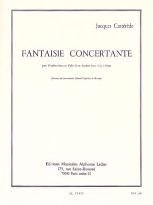 Fantaisie Concertante Jacques Castérède Partition laflutedepan