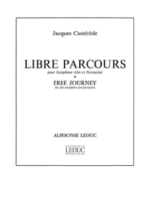 Libre Parcours Jacques Castérède Partition Saxophone - laflutedepan