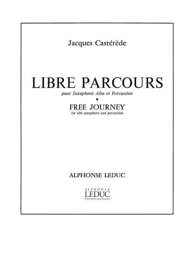 Libre Parcours - Jacques Castérède - Partition - laflutedepan.com