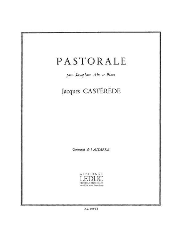 Pastorale - Jacques Castérède - Partition - laflutedepan.com