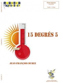 15 degrés 5 Jean-François Durez Partition laflutedepan