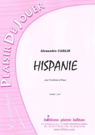 Hispanie Alexandre Carlin Partition Trombone - laflutedepan
