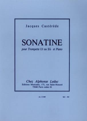 Sonatine Jacques Castérède Partition Trompette - laflutedepan