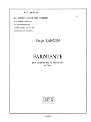 Farniente Serge Lancen Partition Saxophone - laflutedepan