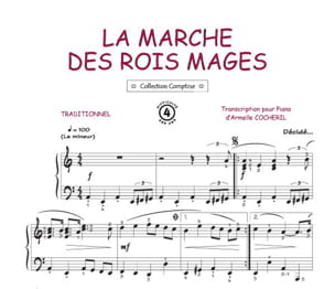 La Marche Des Rois Mages Traditionnel Partition laflutedepan